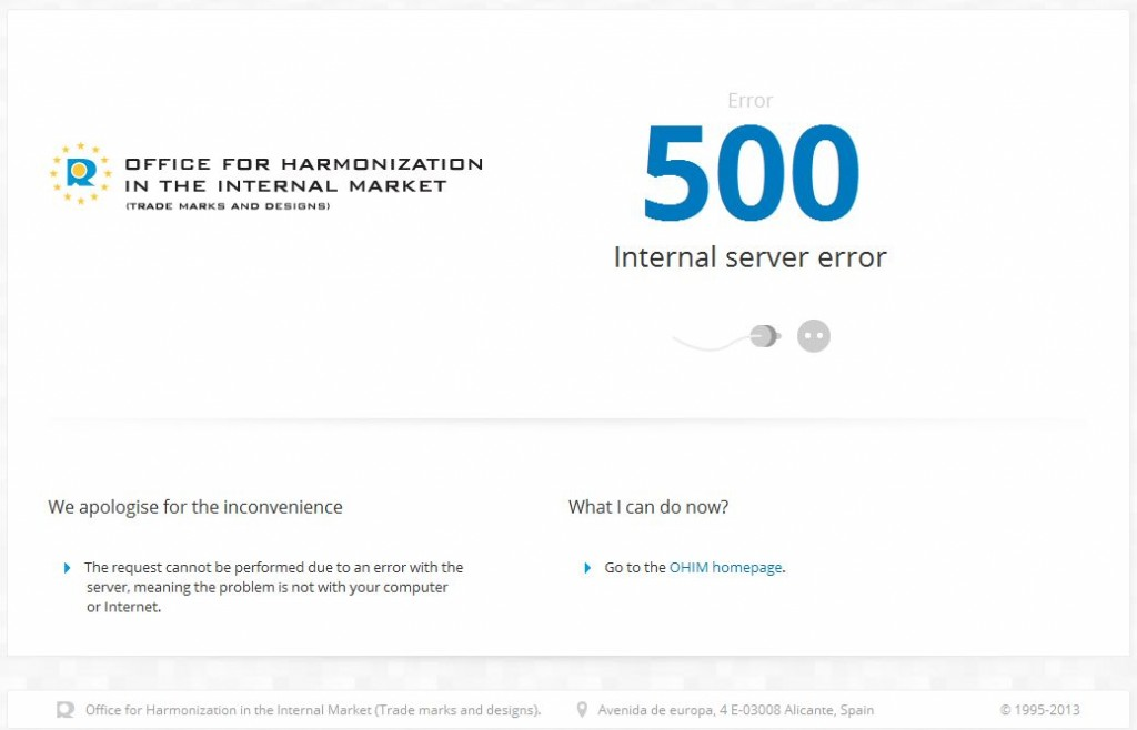 OHIM website down